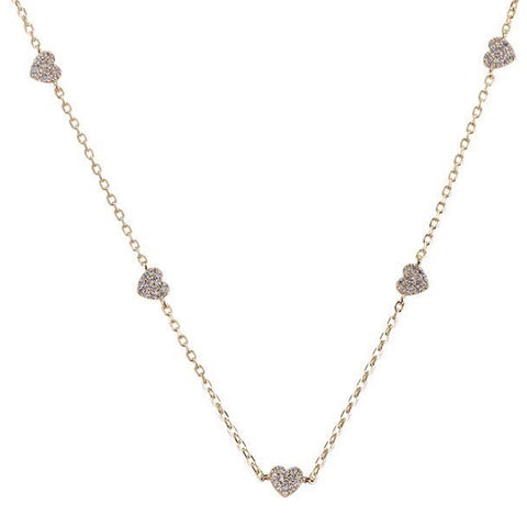 Silver Amada Love Charm Necklace