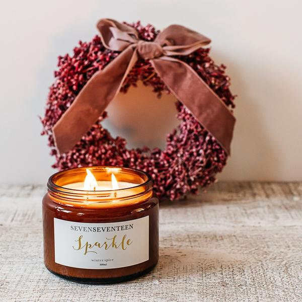 Winter Spice Scented Candle Sparkle 500ml