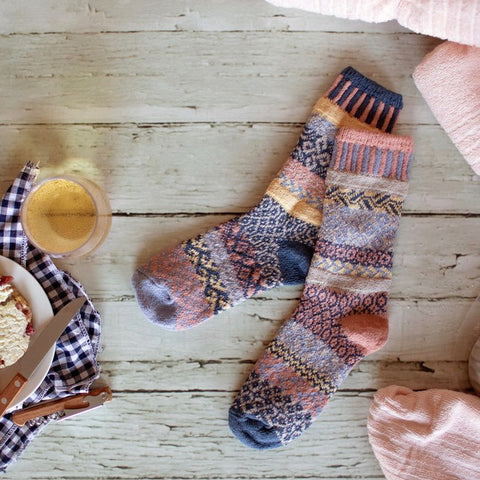 Mirage Mismatched Knitted Socks