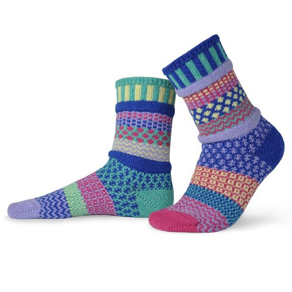 Iris Mismatched Knitted Socks