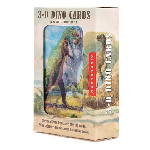 3D Dinosaur Playing Cards