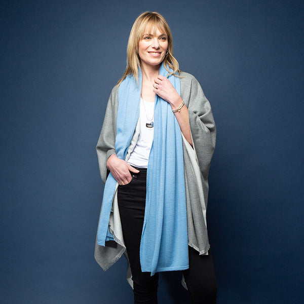 Blue Denim Kellie Cashmere Scarf