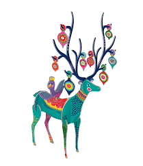 Pop & Slot Folksy Reindeer Small