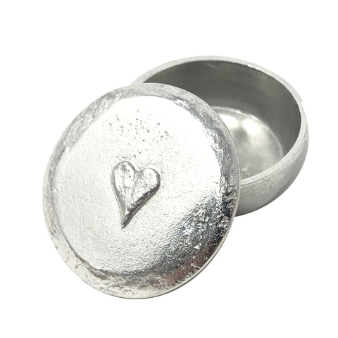 Heart Pewter Box Small