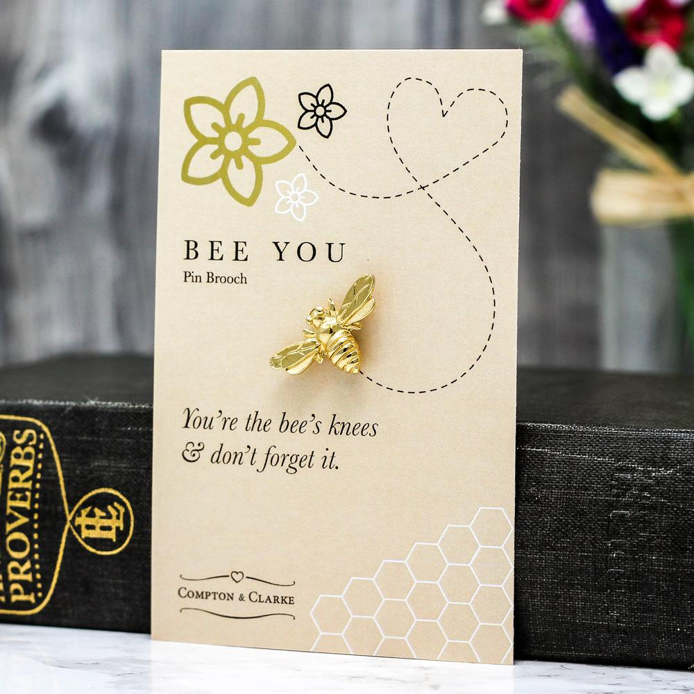 Bee You Gold Plated Brooch
