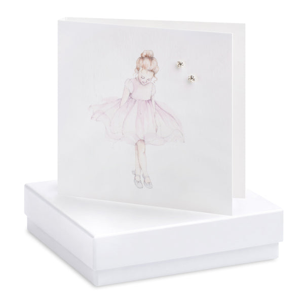 Boxed Ballerina Silver Earring Card