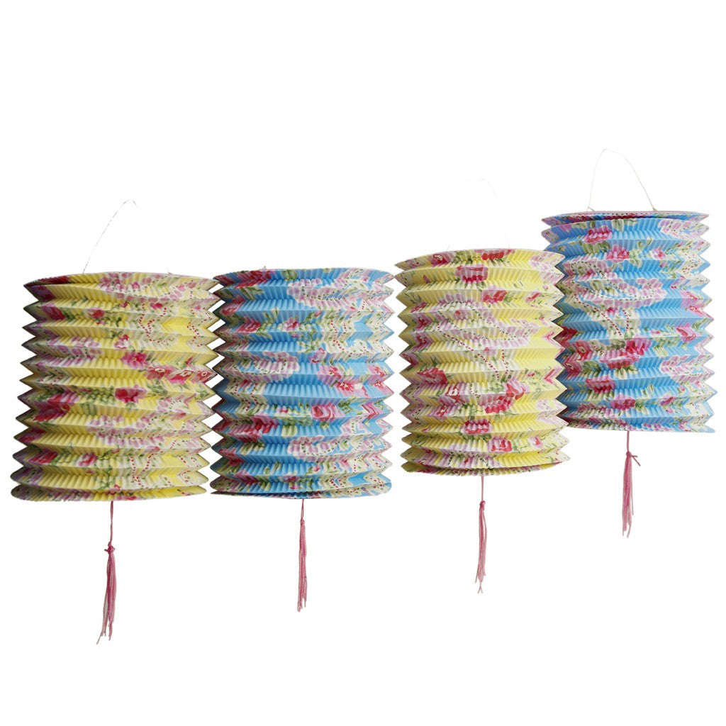 Set of 5 Paisley Paper Lanterns