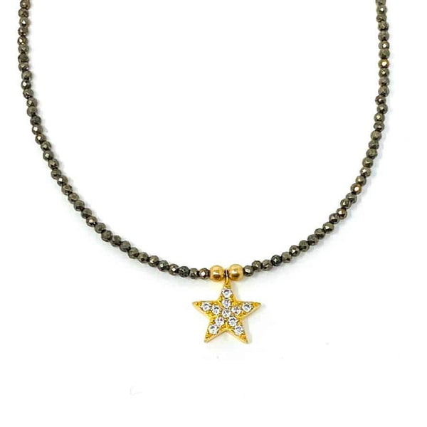 Gold Pyrite Solo Dancer Necklace