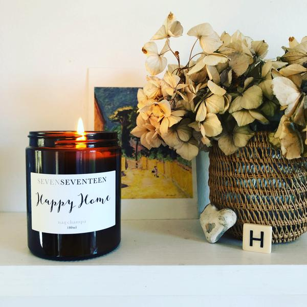 Nag Champa Scented Candle Happy Home