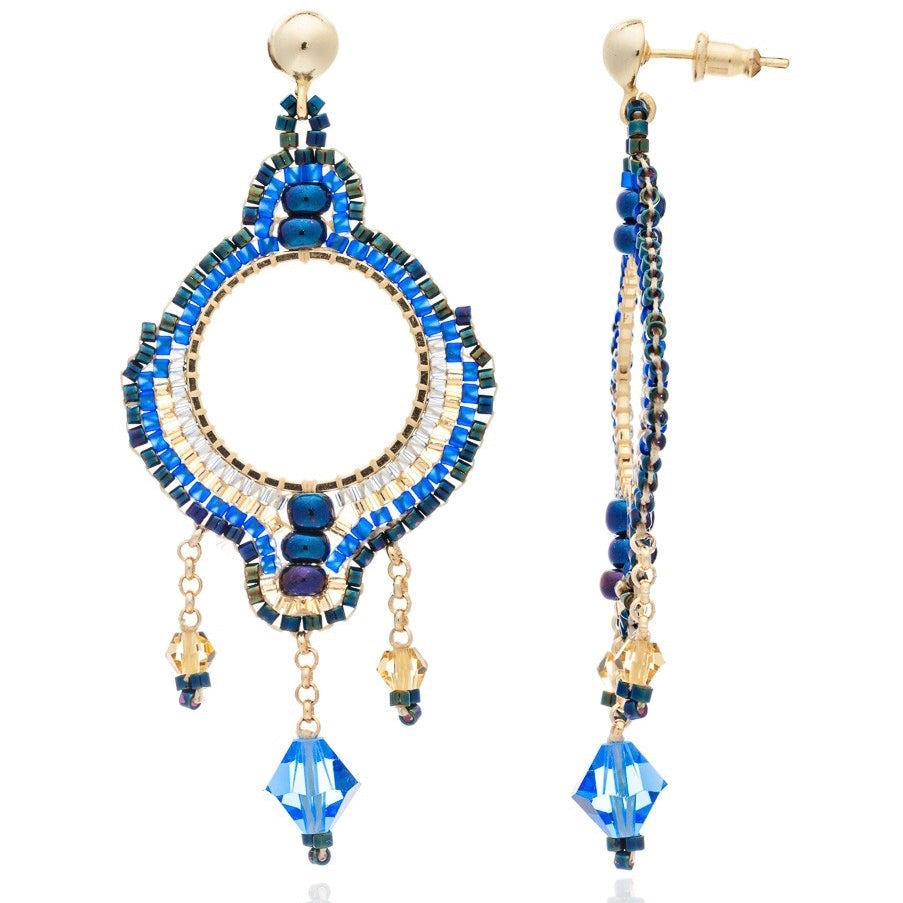 Blue Midnight Bonita Chandalier Earrings
