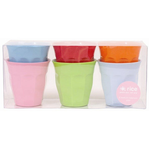 Set of 6 Colourful Rice DK Melamine Cups