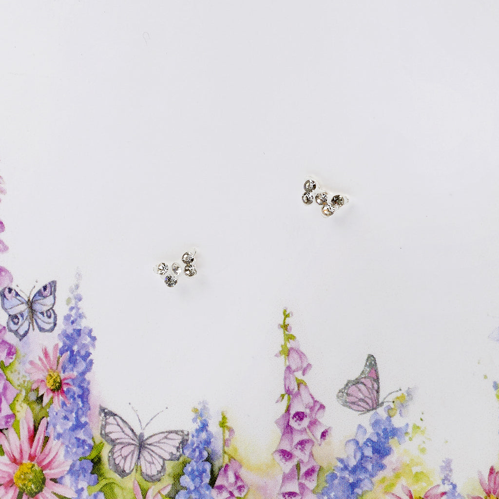 Boxed Butterflies & English Meadows Silver Earring Card