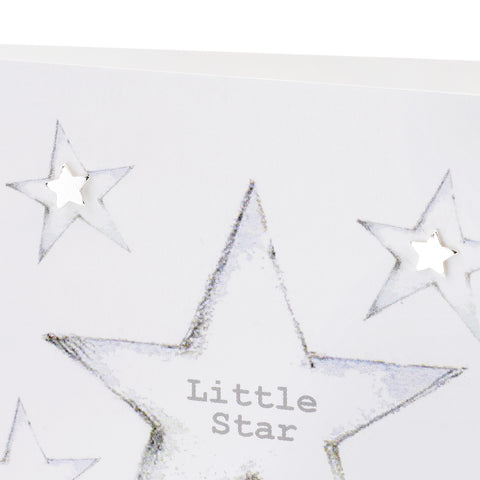 Boxed Little Star Silver Earring Card