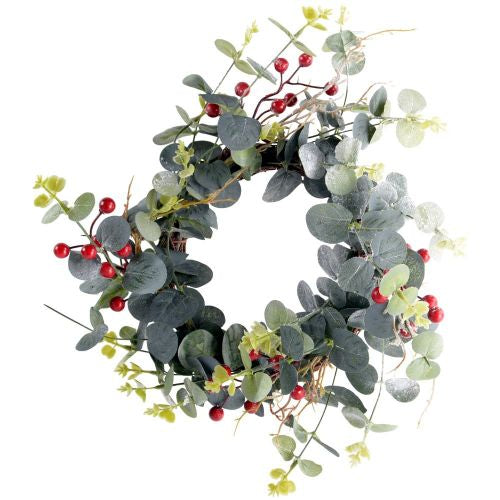 Small Red Berry & Eucalyptus Wreath