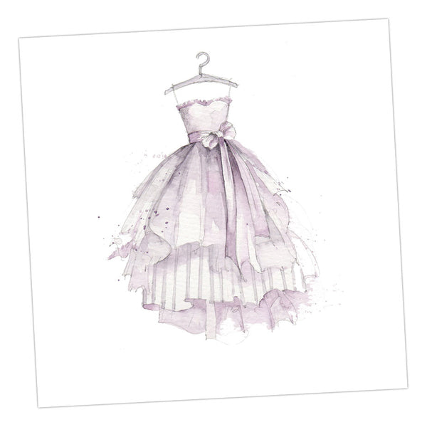 Boxed Party Dress Silver Earring Card