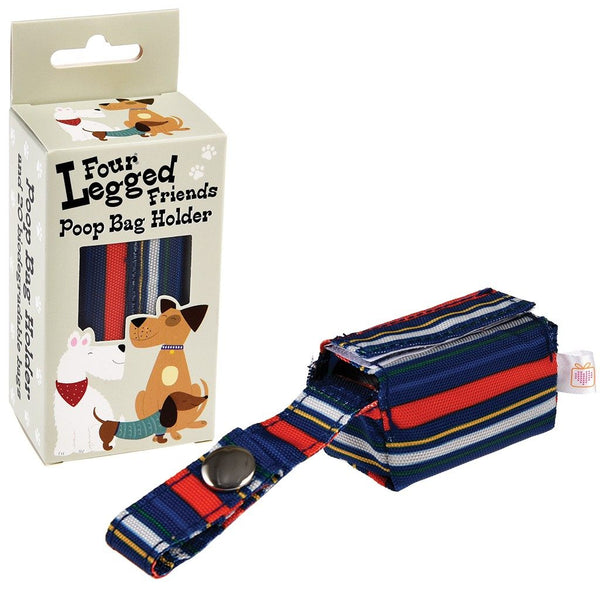 Stripy Dog Poop Bag Holder