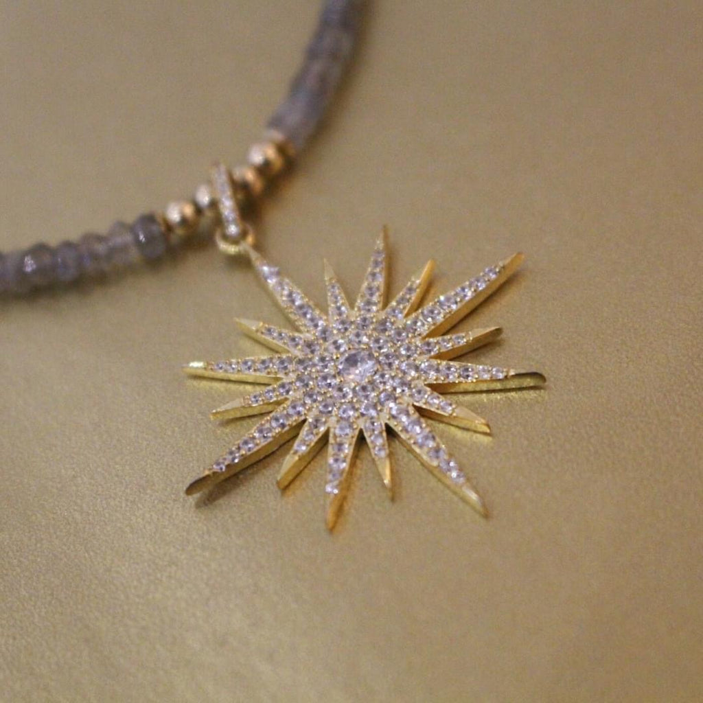 Labradorite & Gold Lola Star Necklace