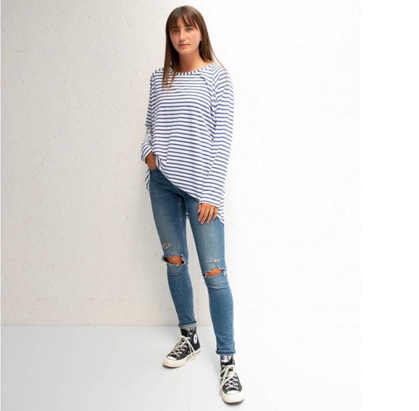 Navy Striped Robyn Top