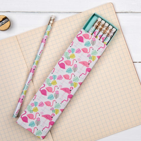 Flamingo Pencils - Boxed Set of 6