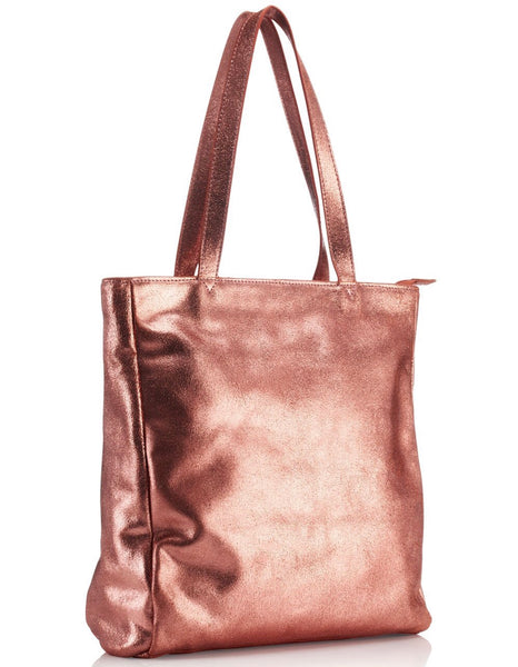 Tote Bag Metallic Rose Gold