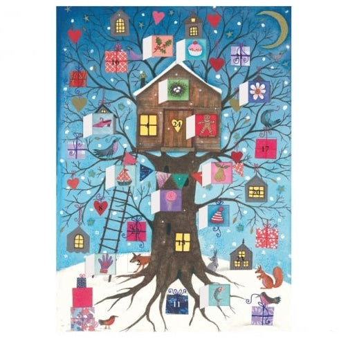 Christmas Tree House Advent Calendar Card