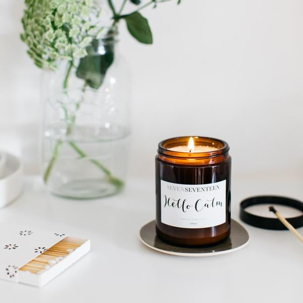 Moroccan Rose Scented Candle Hello Calm
