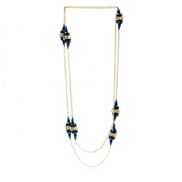 Blue Midnight Fiorella Bauble Necklace