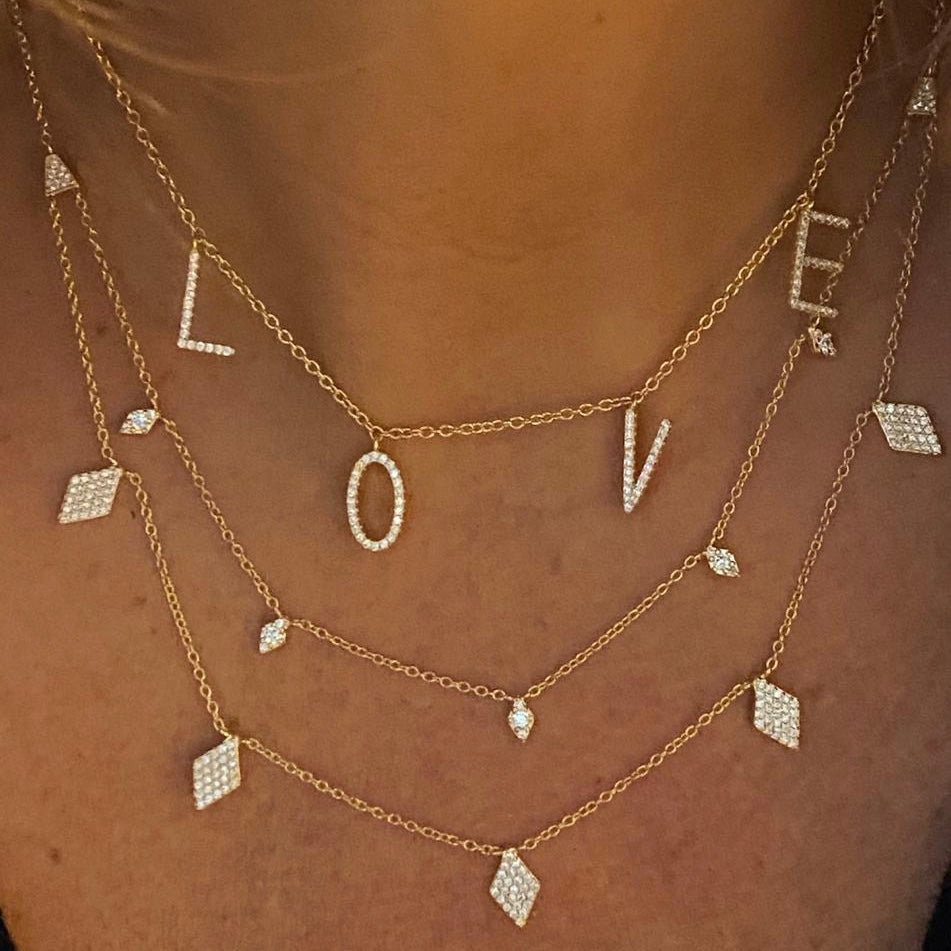 Gold Big Love Necklace