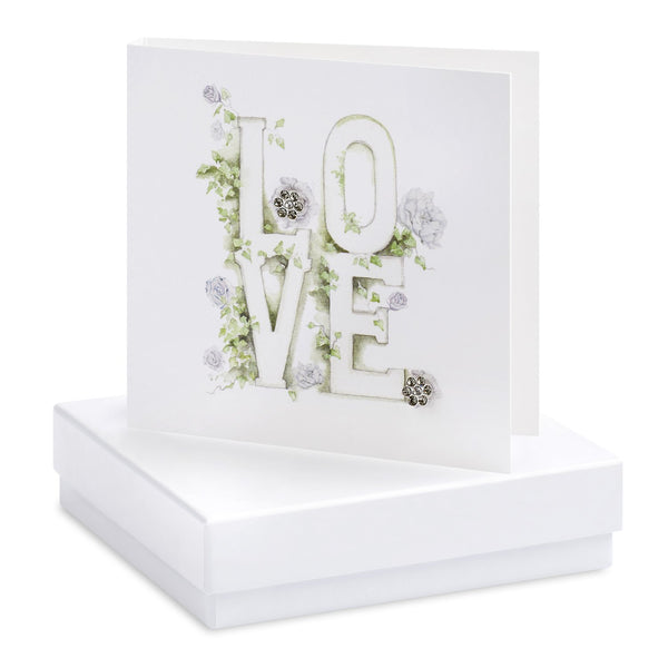 Boxed Love Silver Earring Card