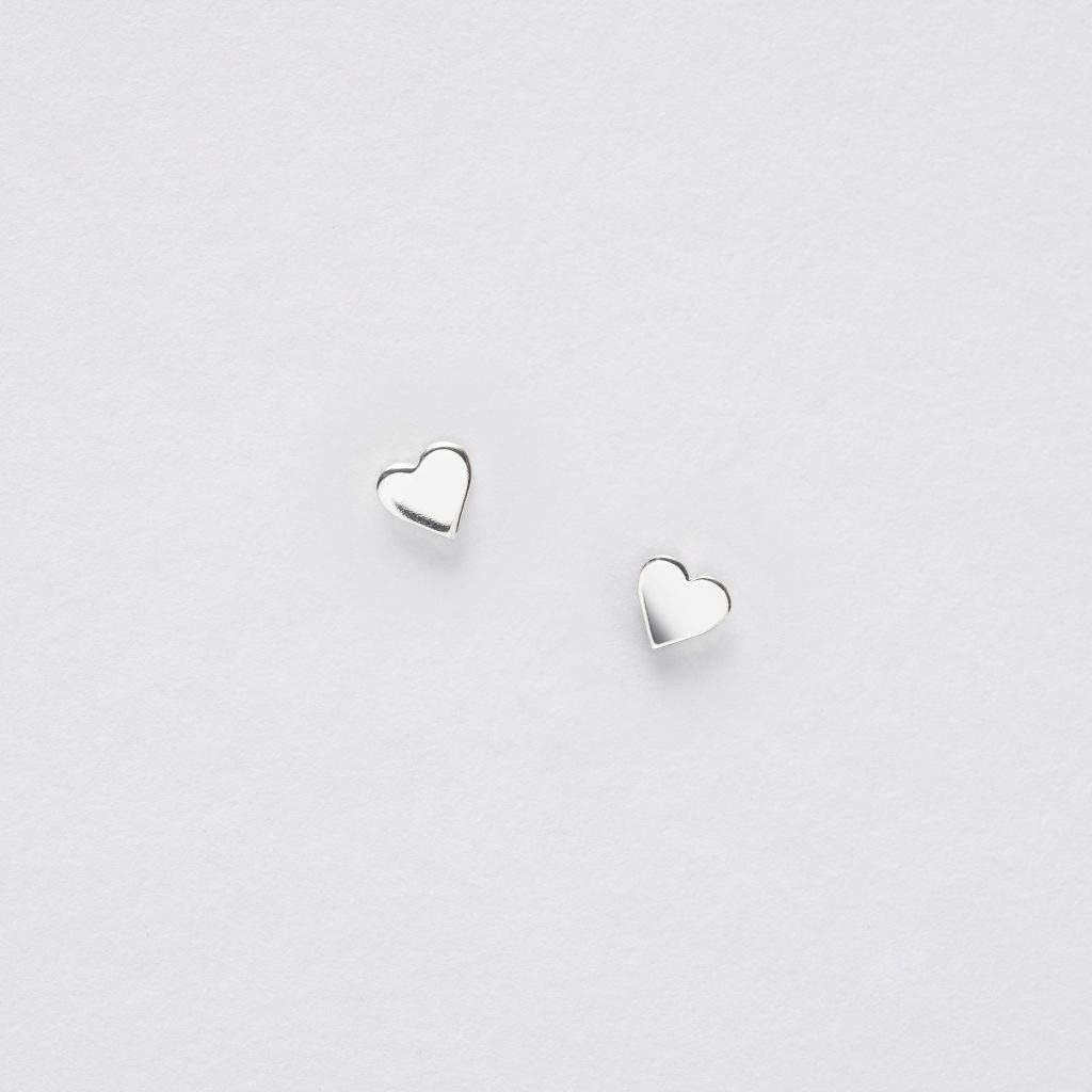 Boxed Heart Tree Silver Earring Card