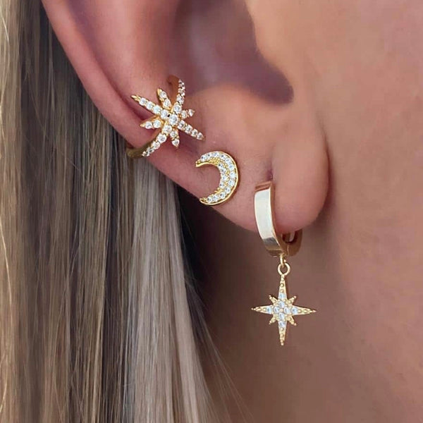 Gold Valhalla Huggies Earrings