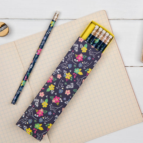 Ditsy Garden Pencils - Boxed Set of 6