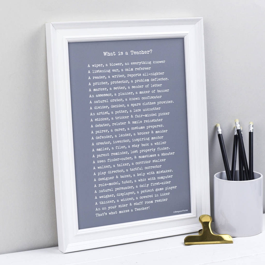 Teacher Poem Print