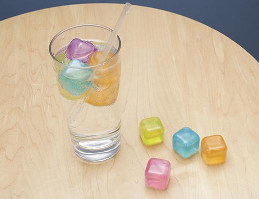 Set of 30 Coloured Reusable Ice Cubes