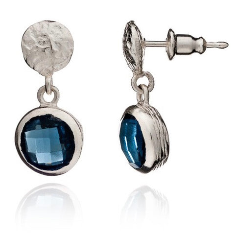 Blue Iolite Silver Drop Adira Earrings