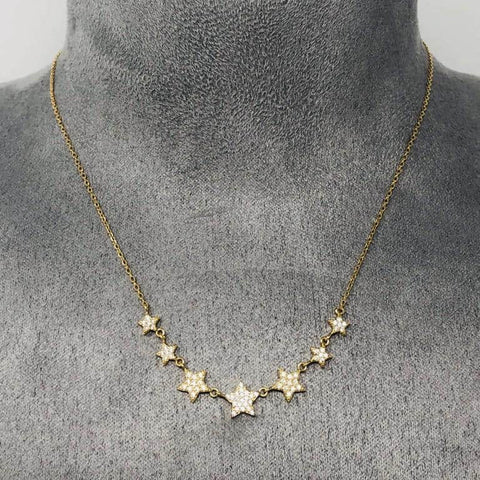 Gold 7 Star Necklace