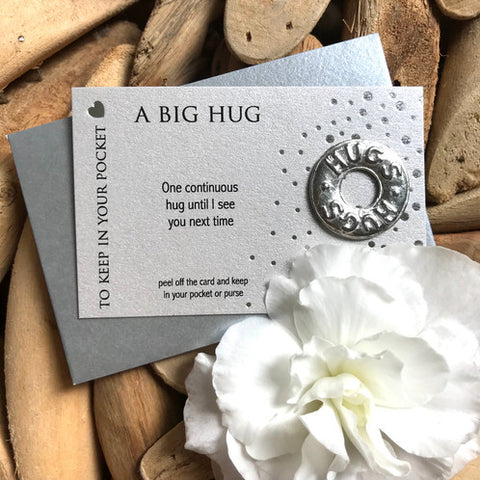 A Big Hug Carded Pocket Charm
