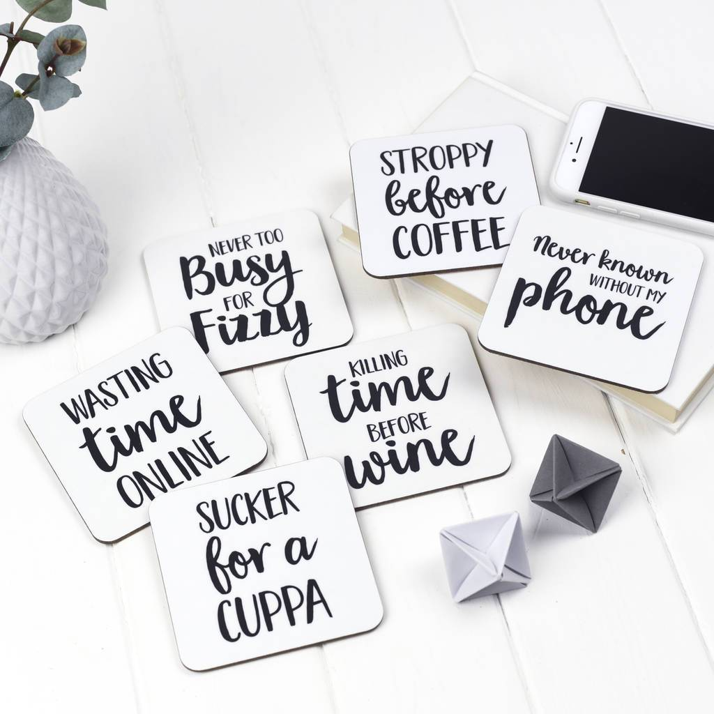 Stroppy Before Coffee Coaster