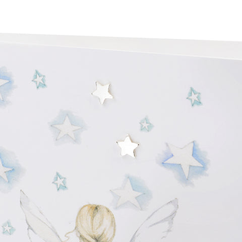 Boxed Stargazer Silver Earring Card