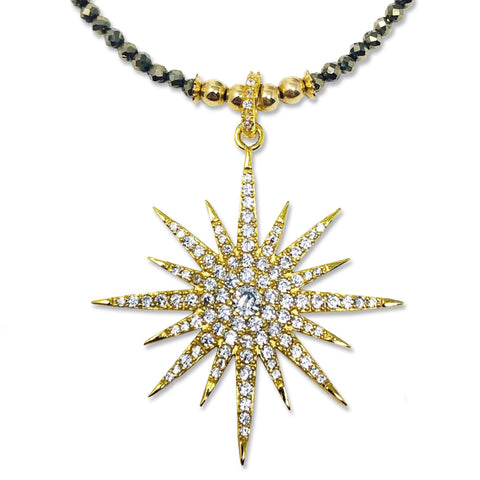 Gold Pyrite Lola Star Necklace