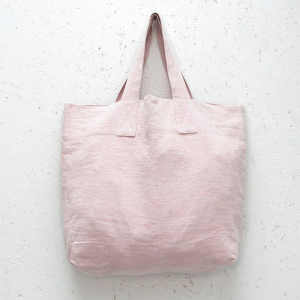 Pink Natural Fibre Shopper