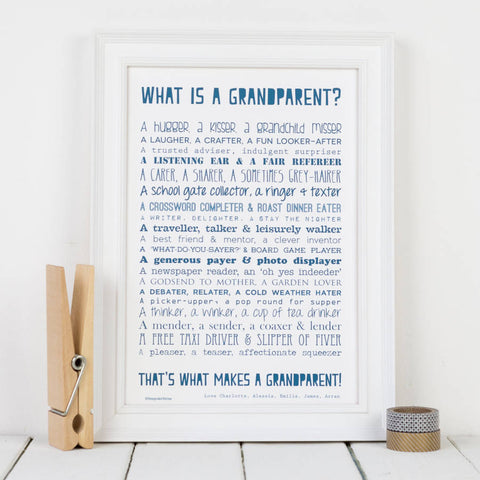 Grandparent Poem Print