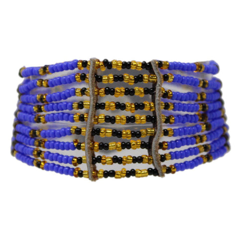 Blue Kitui Beaded Maasai Bracelet