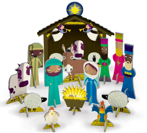 Pop & Slot Away In A Manger Scene