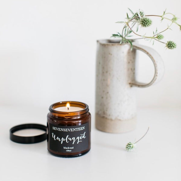 Black Oud Scented Candle Unplugged