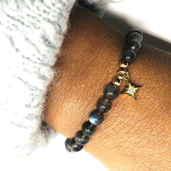 Gold Labradorite North Star Bracelet