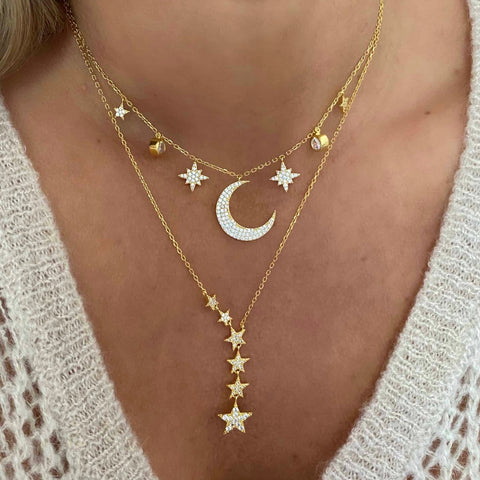 Wendy Moon Necklace Silver
