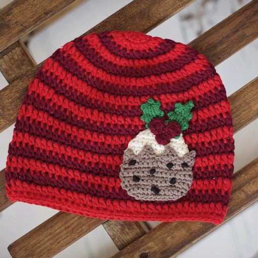 Christmas Pudding Crochet Hat