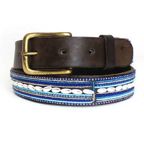 Horizontal Blue Shell Belt