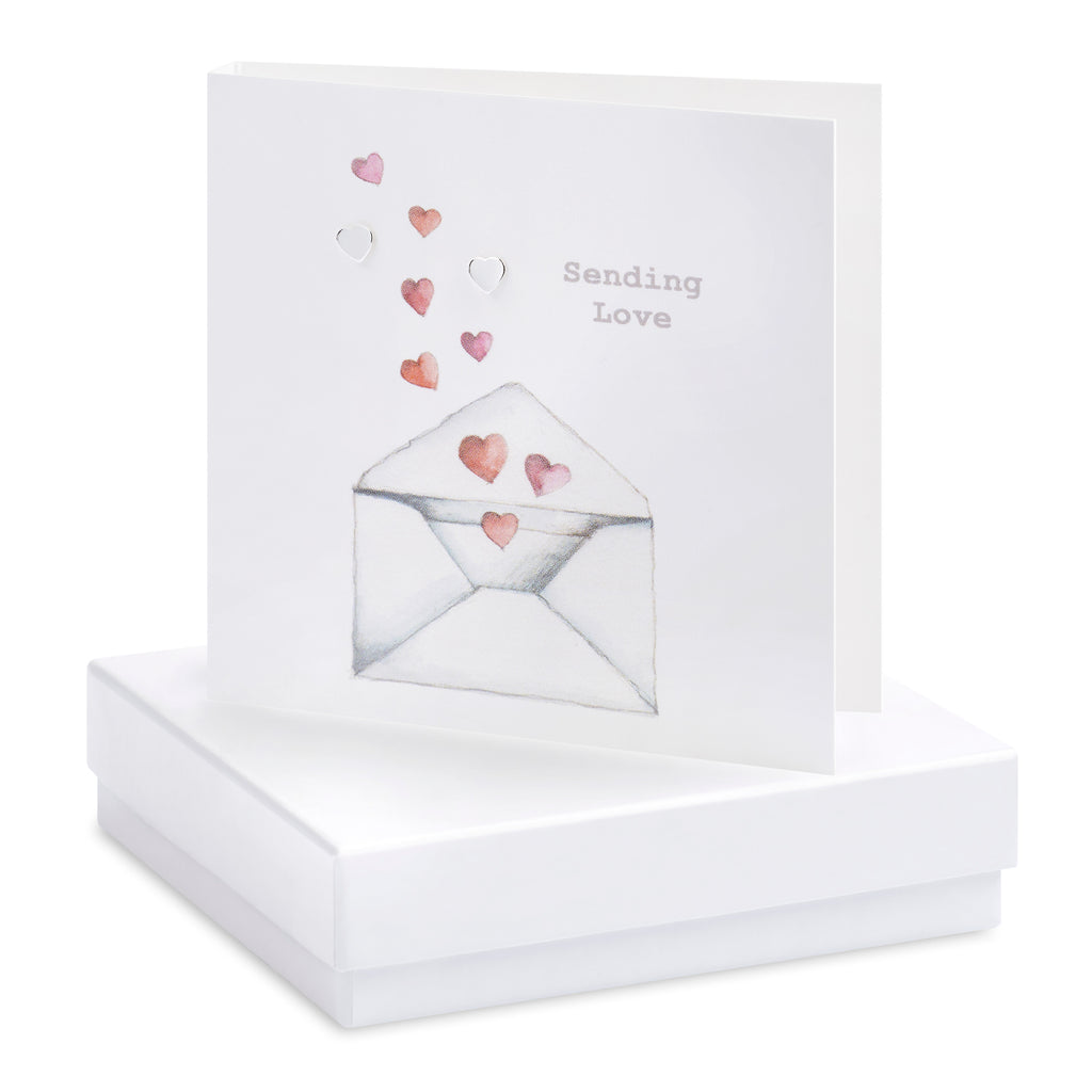 Boxed Love Letters Silver Earring Card